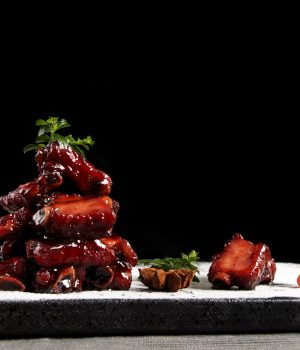 Spareribs with sweet and sour sauce
